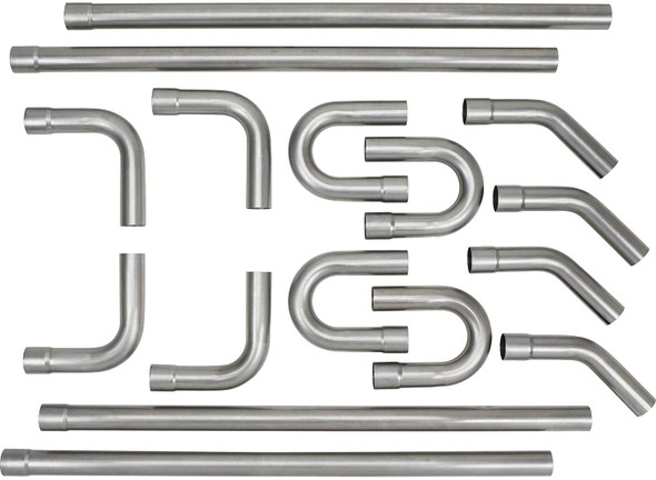 16 Piece Mandrel Bend Custom Exhaust Pipe Kit 3""
