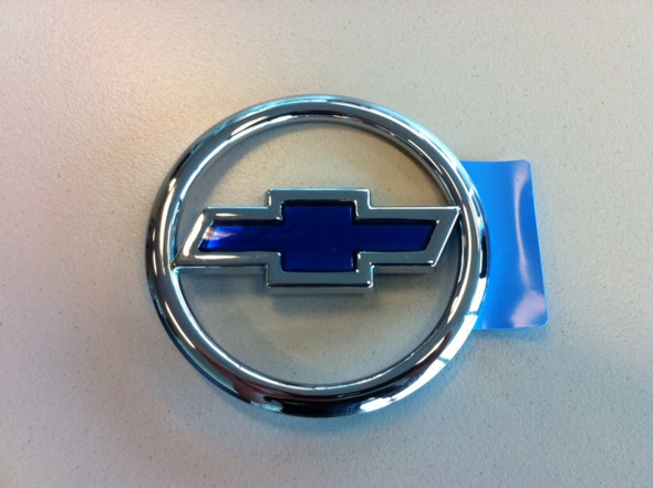 Chev Chrome & Blue Bonnet Badge