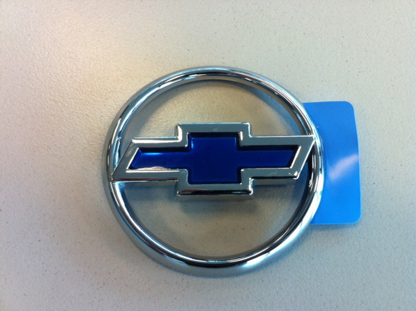 Chev Chrome & Blue Boot Badge