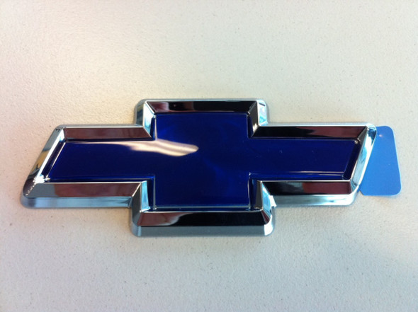 Chev Chrome & Blue Boot Bowtie Badge