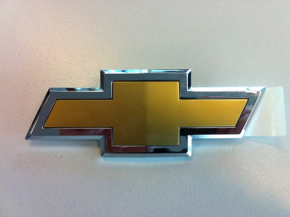 Chev Chrome & Gold Boot Badge