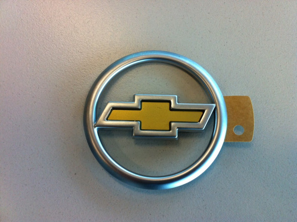 Chev Satin Chrome & Gold Ute Tailgate Badge
