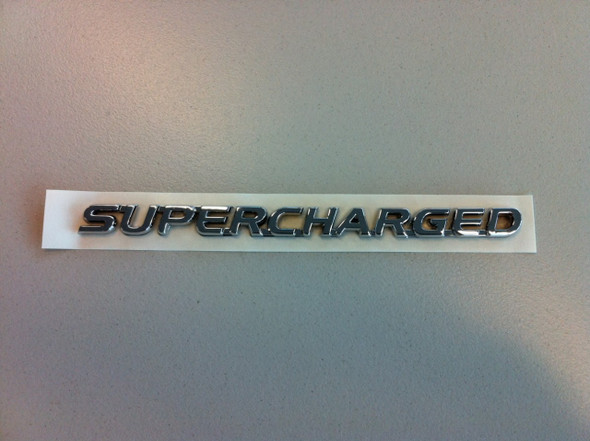 Chrome Supercharged Badge