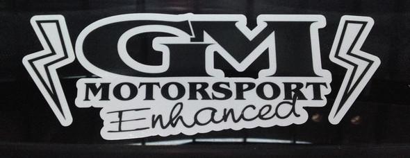 GM Motorsport Enhanced Decal White & Black