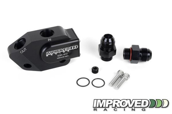 Improved Racing VE Low Profile Oil Cooler Adapter -10AN