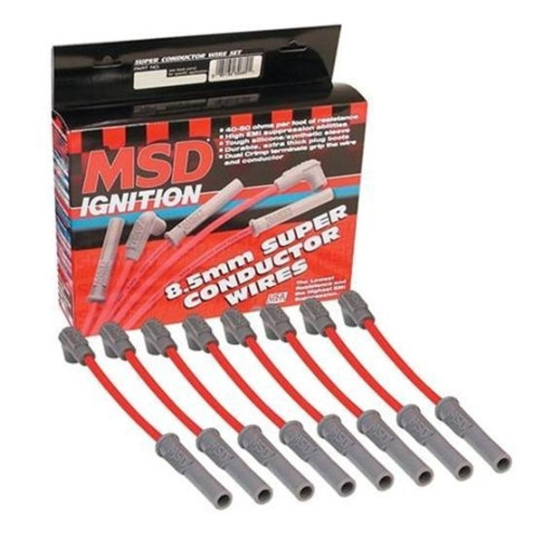 MSD 8.5mm Ignition Leads Set suit 6.0lt Red