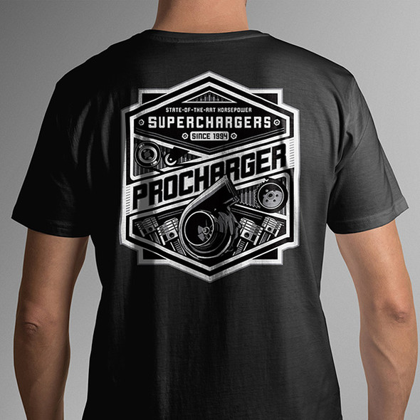 ProCharger T-Shirt Belts & Pulleys Black - Extra Large