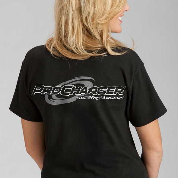 ProCharger T-Shirt Black & Silver Racing - Medium