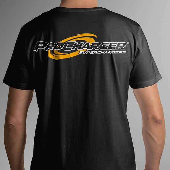 ProCharger T-Shirt Black & Yellow Racing - Medium