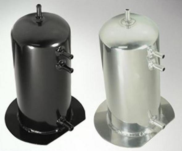 Surge Tank 2.5lt Single AN Fitting Black