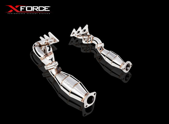"X-Force 1-5/8"" NON-POLISHED STAINLESS STEEL HEADER WITH METALLIC CATS"