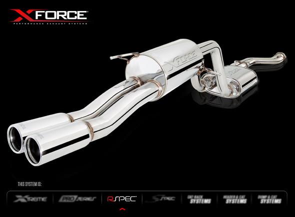"X-FORCE CAT BACK DUAL 2-1/2"" SYSTEM MILD STEEL"