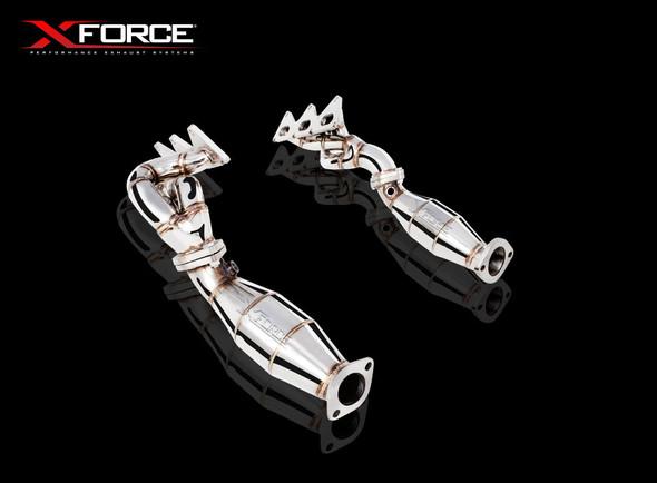 "X-Force DUAL 2.25"""" MATT FINISH STAINLESS STEEL METALLIC CATS"
