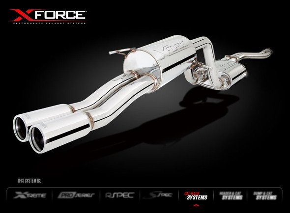 "X-FORCE DUAL 2-1/2"" CAT-BACK SYSTEM MILD STEEL"