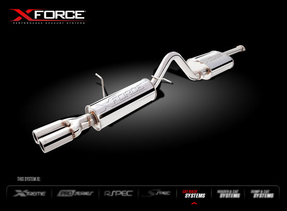 """X-FORCE HEADER WITH METALLIC CAT & 2.5"""" MILD STEEL CAT-BACK SYSTEM"""