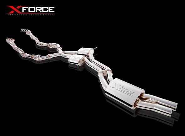 """X-Force HEADERS 13/4"""" METALLIC 3"""" CATS & TWIN 3"""" CAT-BACK MILD STEEL"""