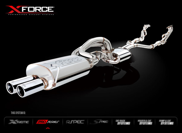 X-FORCE MILD STEEL DUAL 2.5 SYSTEM CAT BACK SYSTEM
