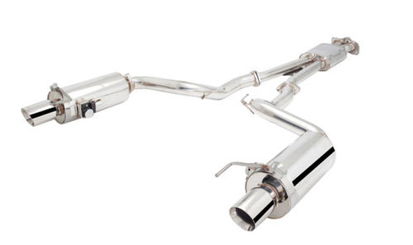 "X-Force POLISHED STAINLESS STEEL TWIN 2.5"""" CAT-BACK SYSTEM WITH VAREX MUFFLERS CONV ECOBOOST"