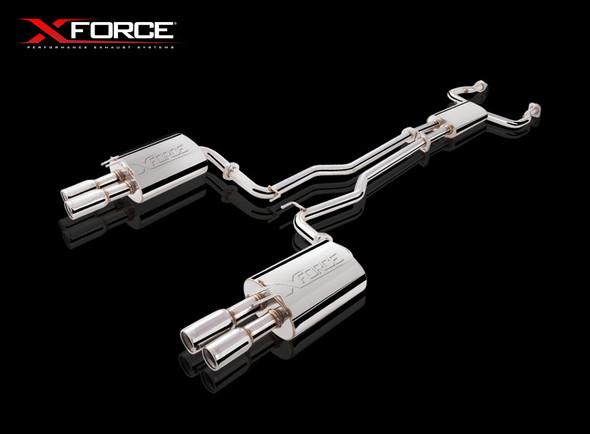 "X-Force TWIN 2.5"" CAT-BACK MILD STEEL E1 HSV"