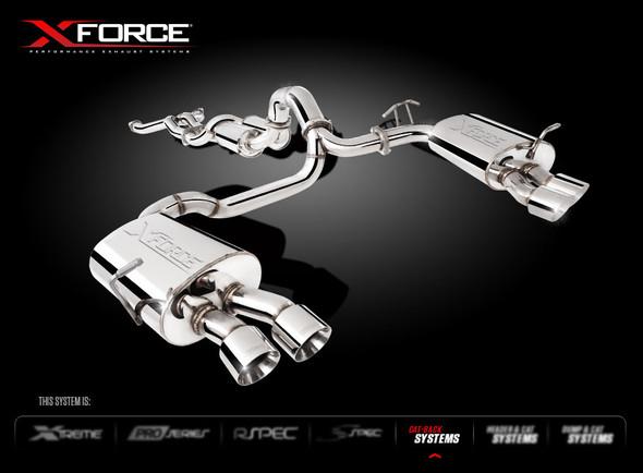 "X-FORCE TWIN 3"" CAT-BACK SYSTEM MILD STEEL"