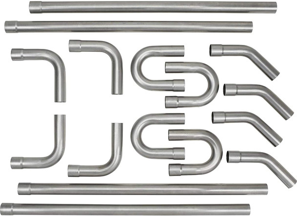 "16 Piece Mandrel Bend Custom Exhaust Pipe Kit 3"""
