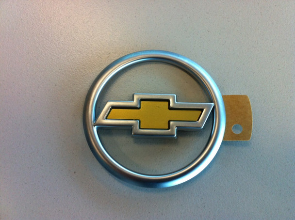 Chev Satin Chrome & Gold Ute Tailgate Badge