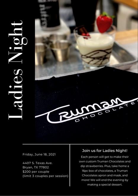 Ladies Night Registration - Friday, June 18th, 2021