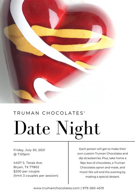 Date Night Registration-Friday, July 30, 2021