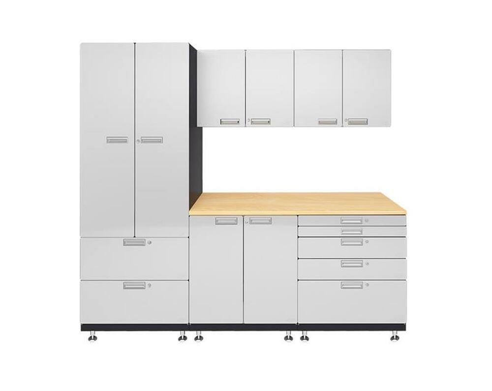 Hercke 6-Piece Powder Coated Garage Cabinet System