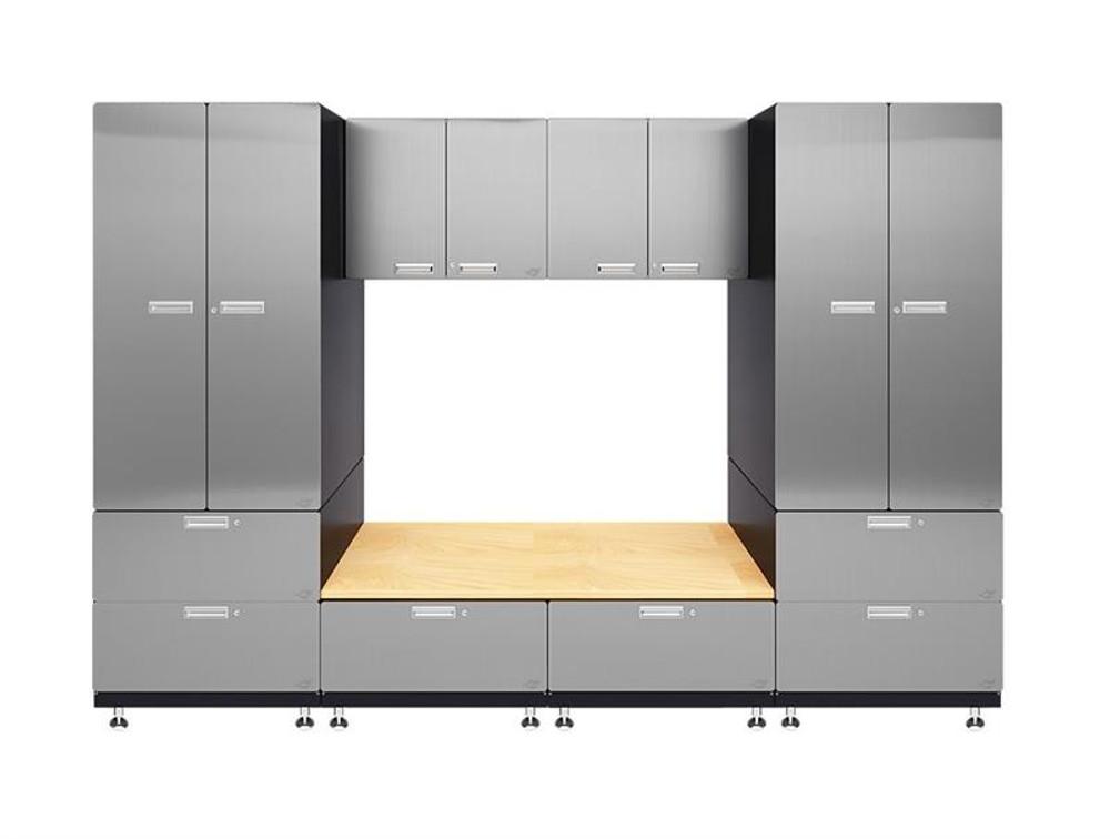 Hercke 7-Piece Stainless Steel Garage Cabinet System