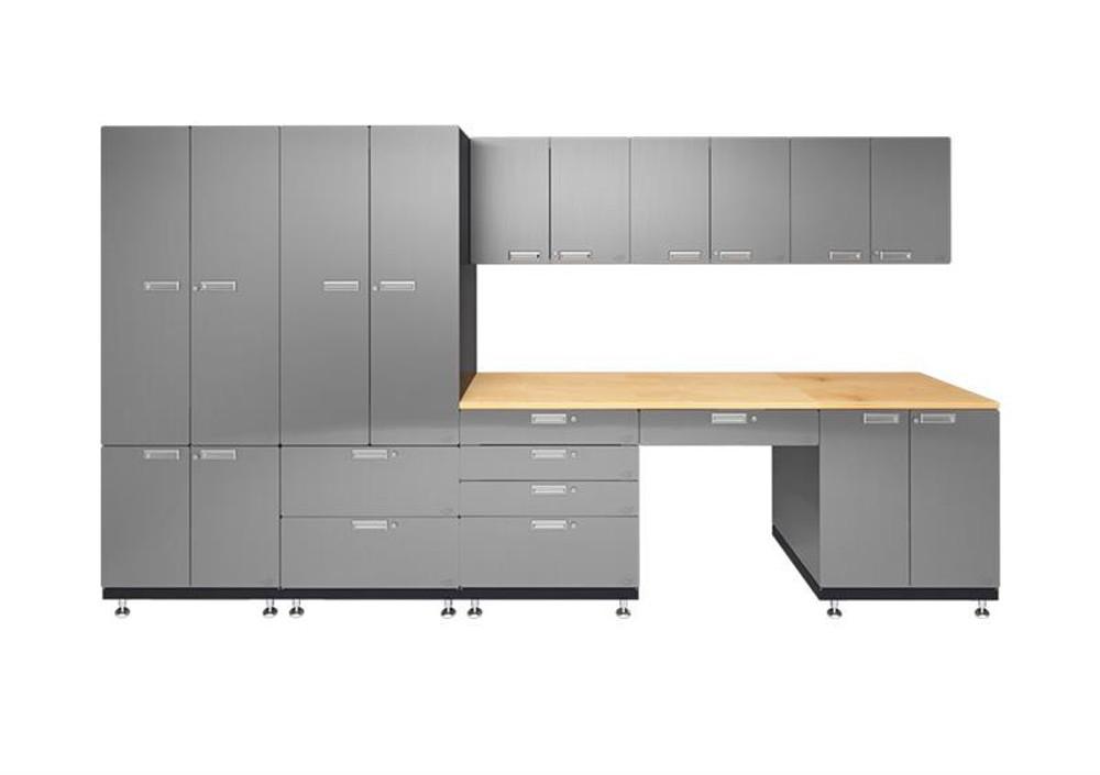 Hercke 9-Piece Stainless Steel Garage Cabinet Set