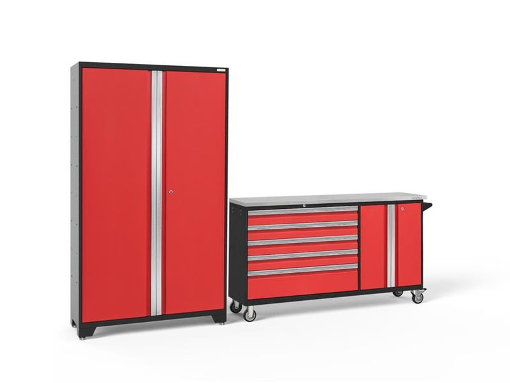NewAge Bold 3.0 2 PC Set w/Stainless Steel Worktop - Red