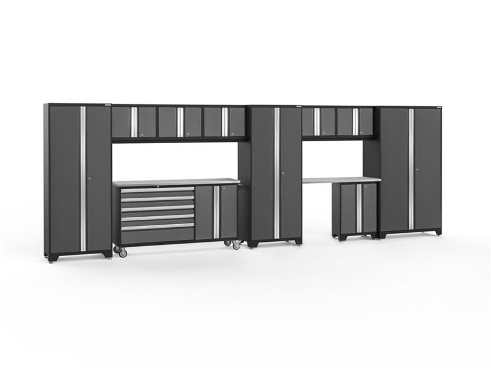 NewAge Bold 3.0 Grey 11 PC Set w/Stainless Steel Worktops