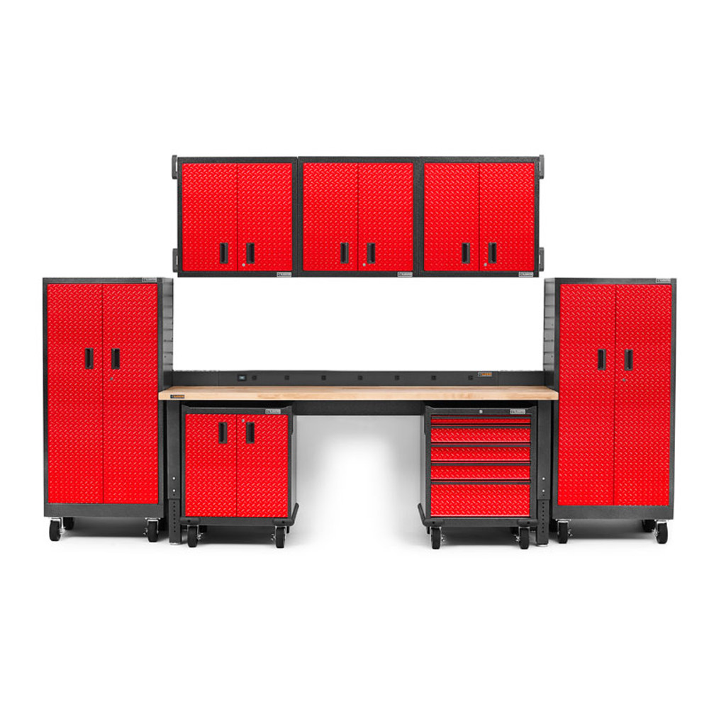 Gladiator Premier Welded Steel Red 11 Piece Kit