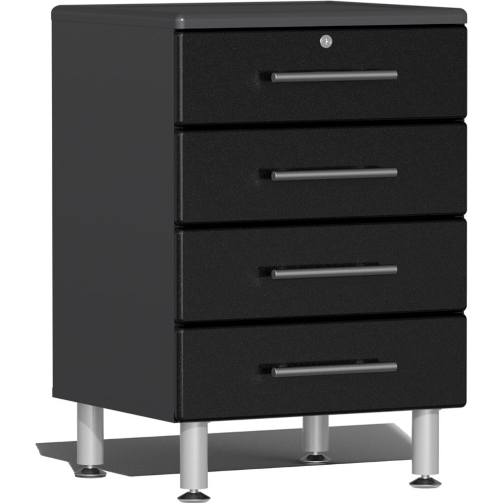Ulti-MATE Garage 2.0 Series Black Metallic 4-Drawer Base Cabinet