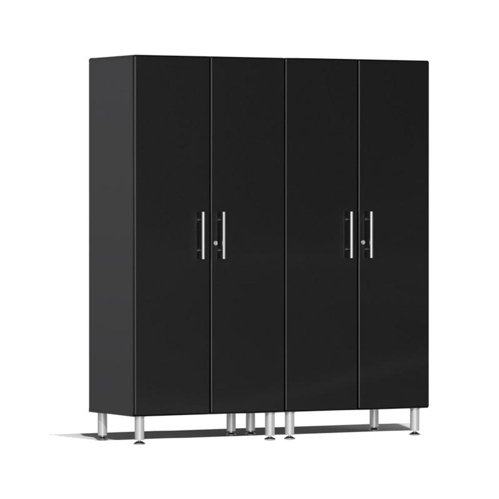 Ulti-MATE Garage 2.0 Series Black Metallic 2-Pc Tall Cabinet Kit