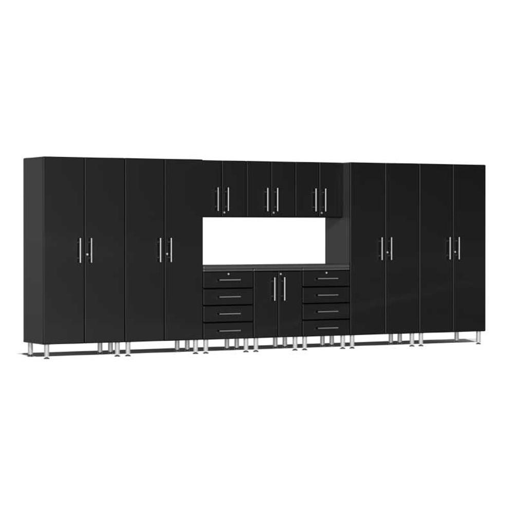 Ulti-MATE Garage 2.0 Series Black Metallic 11-Piece Kit with Workstation