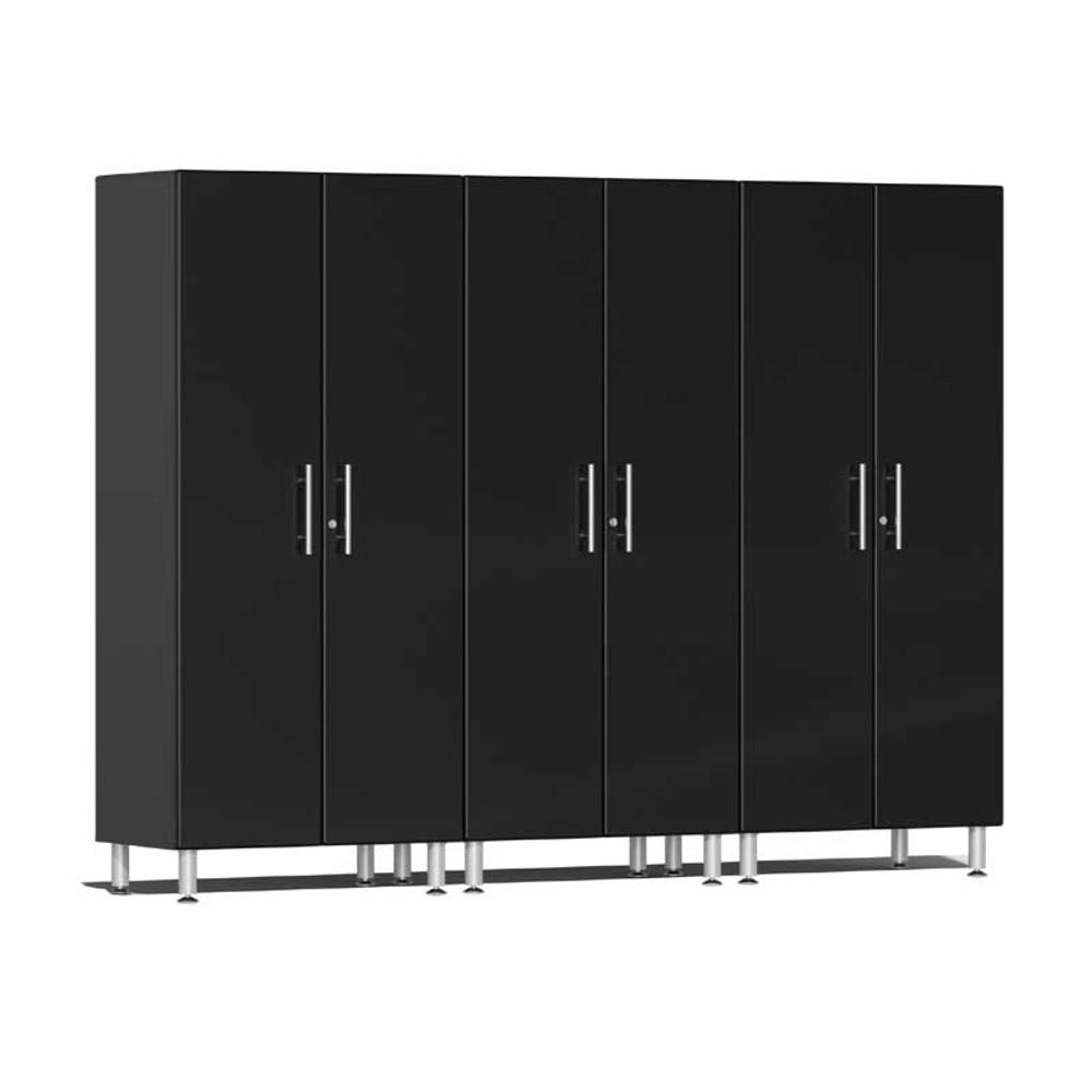 Ulti-MATE Garage 2.0 Series Black Metallic 3-Pc Tall Cabinet Kit