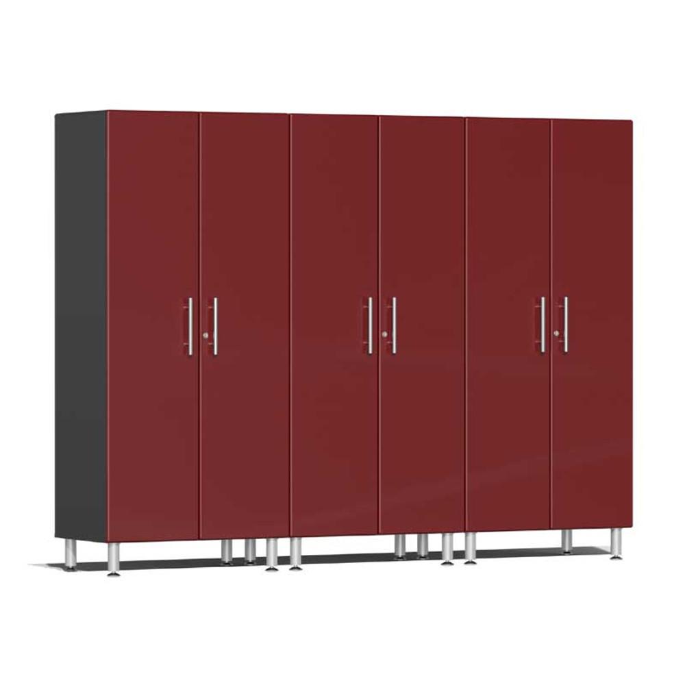 Ulti-MATE Garage 2.0 Series Red Metallic 3-Pc Tall Cabinet Kit