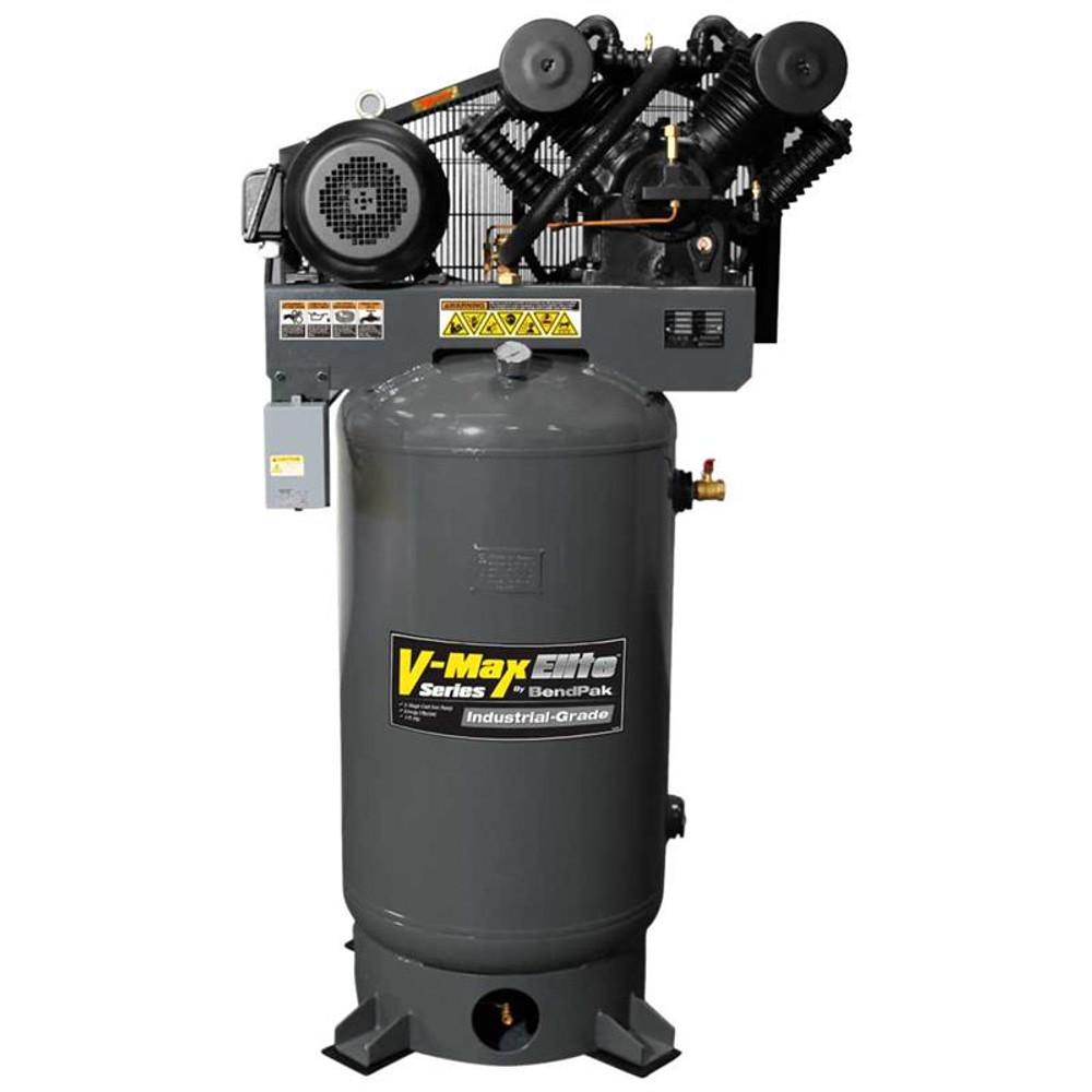 BendPak VMX-10120V-603 V-MAX Elite Air Compressor, 10 HP, 120Gallon Vertical Tank, 3 Phase