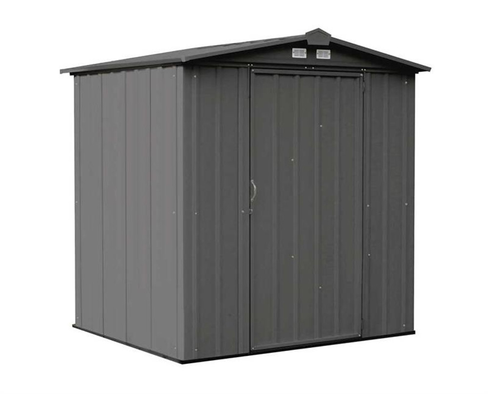 Arrow EZEE Shed Steel Storage 6 x 5 ft. Galvanized Low Gable Charcoal