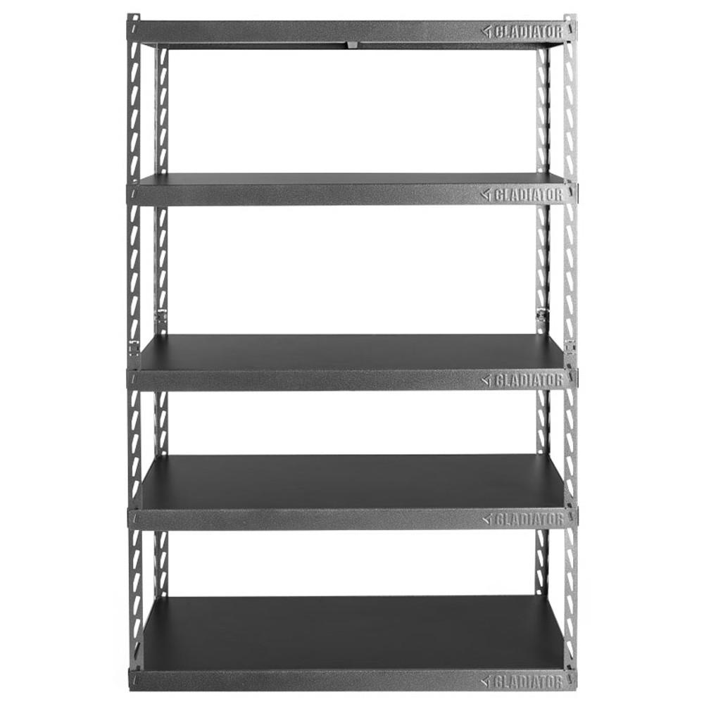 "Gladiator 48"" Wide EZ Connect Rack w/Five 18"" Deep Shelves"