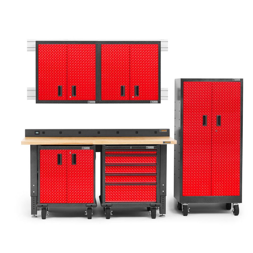 Gladiator Premier Welded Steel Red 8 Piece Set