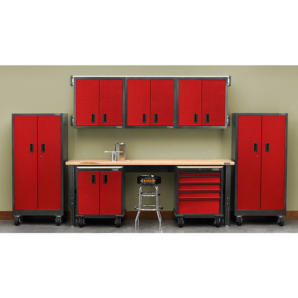 Gladiator Premier Welded Steel Red 13 Piece Set