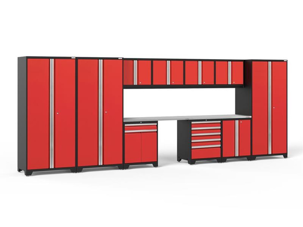 NewAge Pro Series 3.0 Red 12 Piece Set w/Stainless Steel Worktop