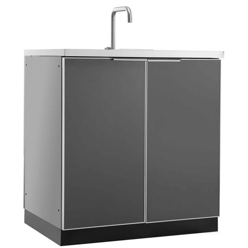 "NewAge Aluminum Slate 32""W x 24""D Sink Cabinet"