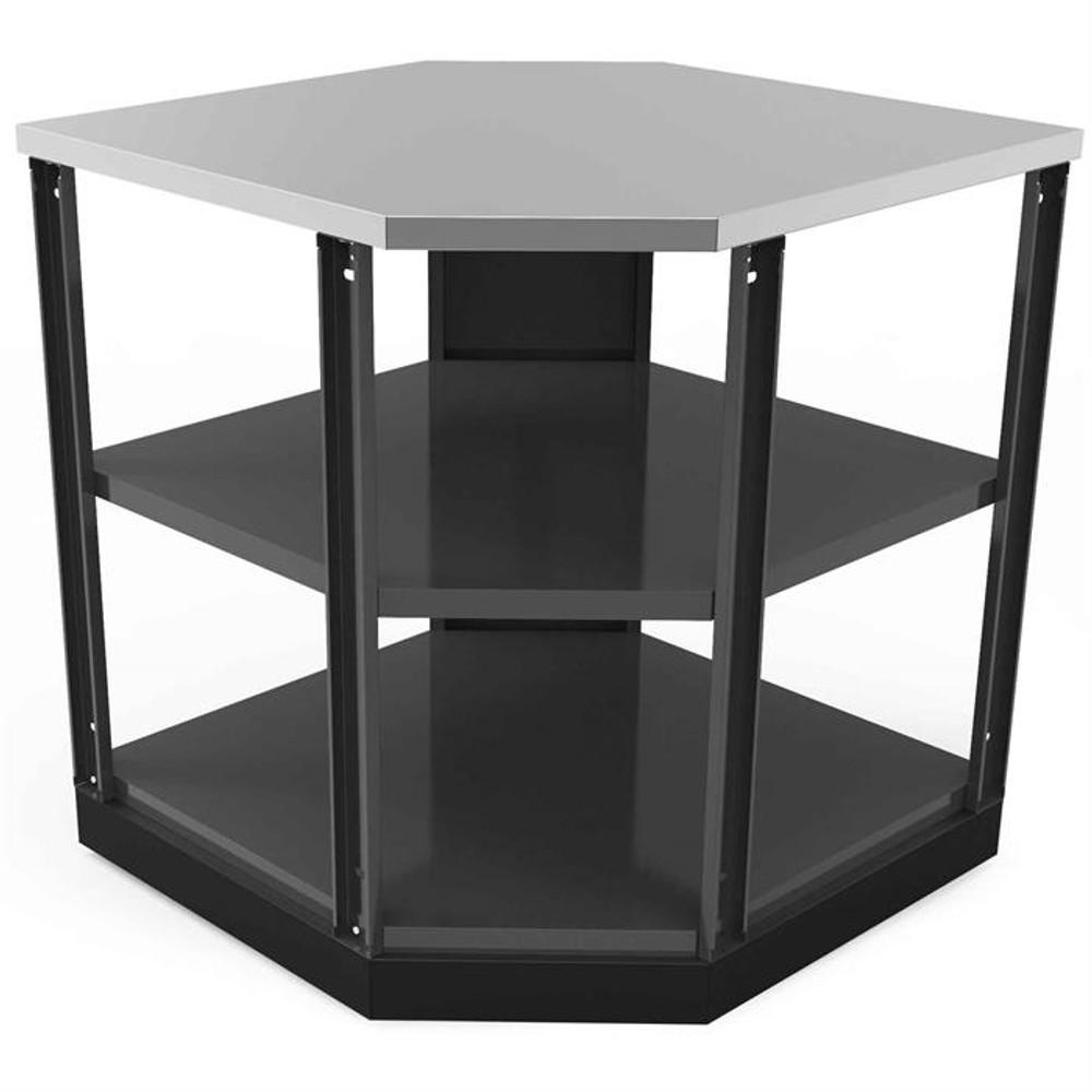 NewAge Aluminum Slate 90-Degree Corner Shelf