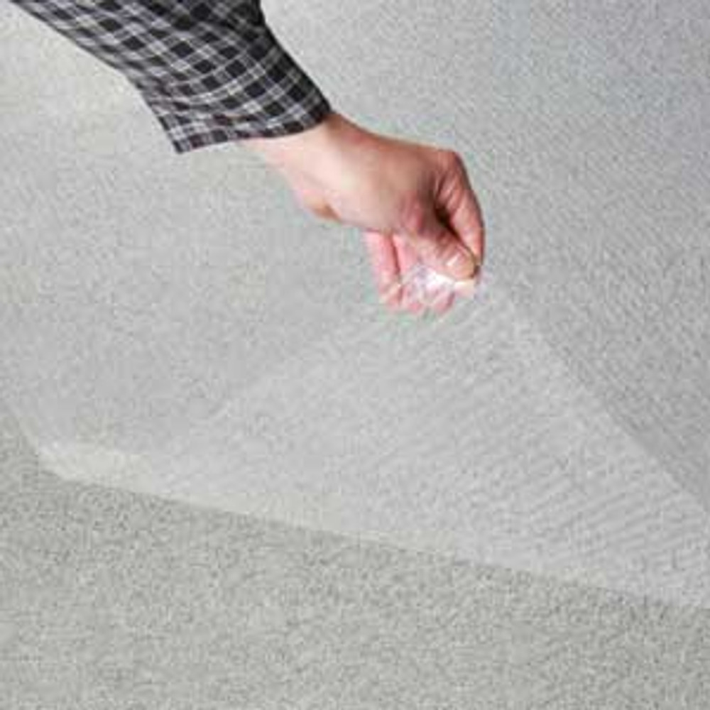 """Clear Floor Protector 7.5' wide x 17' long x .055"""" Rib Pattern (55 mil)"""
