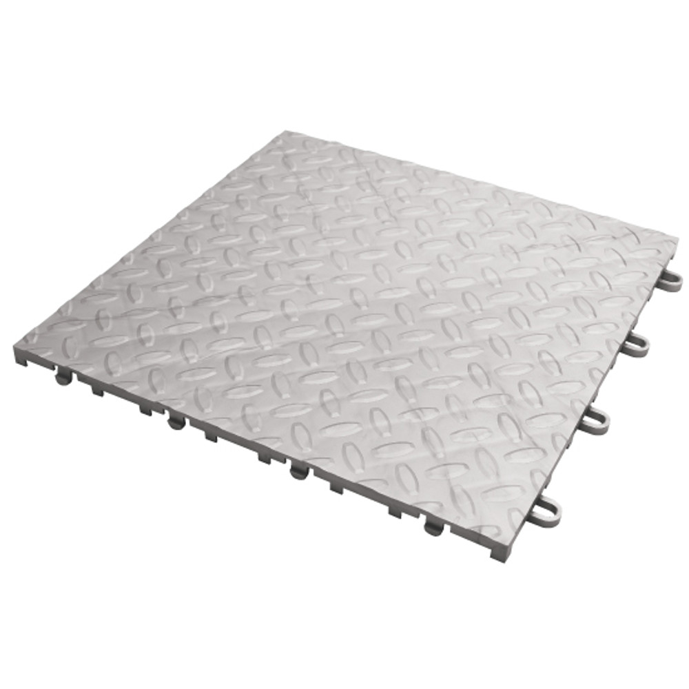Gladiator Silver Tile Flooring (4-Pack)