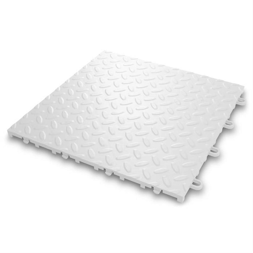 Gladiator White Floor Tile (24-Pack)